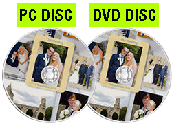 We now offer all of our customers [b]TWO[/b] discs - [b]at no extra charge[/b]! Get a PC disc for your computer [b]AND[/b] a DVD to play your images large on your TV How good is that?!
