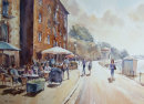 """Afternoon Sun, Exeter - 13"""" x 18"""" Watercolour"""