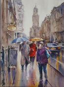 Rainy Day, Corn Street. SOLD