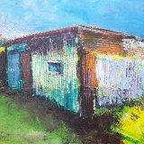 Rusty farm shed