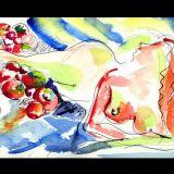 Beauty - Watercolour 25 x 18 cms