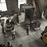 Inside the foundry, the team working in harmony