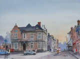 'The Old Post Office, Warminster'. Watercolour. 26 x 35
