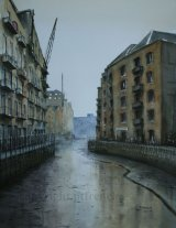 St Saviour's Dock, Shad Thames. -Watercolour. Sold.