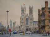 The Sanctuary, Westminster. -Watercolour.
