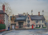 Warminster School. Watercolour. 26 x 35.