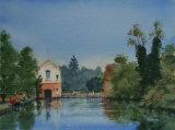 Warminster Lake. Watercolour. 26 x 36. Sold.