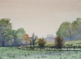 The Wylye at Longbridge Deverill. Watercolour.  36 x 26