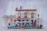 Browns Bar, Orange Grove, Bath. Watercolour. 35 x 53.