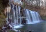 Welsh waterfalls in winter