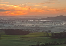 Pewsey Vale at Sunrise