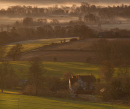 Daybreak in the Pewsey Vale, Wiltshire