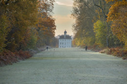 Ashdown House on a frosty late autumn morning