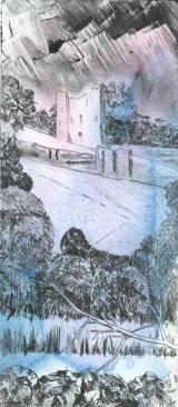 Peveril castle Casleton. Dry point