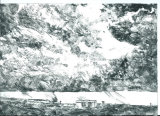Clouds over Lodgemoor. Dry-point