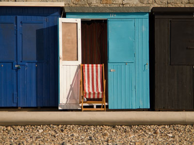 Beach hut Lyme Regis