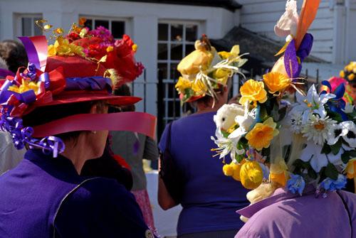 Easter bonnets, Lyme Regis 2007