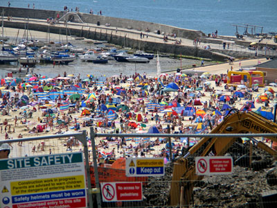 Summer beach Lyme Regis