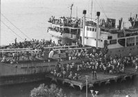 Boarding ships in the Saigon River to flee the advancing NVA