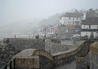 Lyme Regis Snow Storm