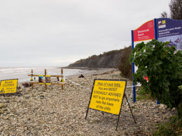 Monmouth Beach landslip-3715