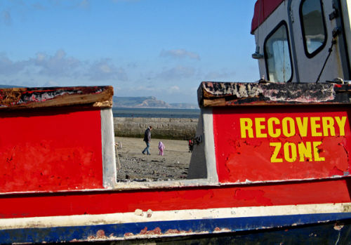 Rescue boat, Lyme Regis
