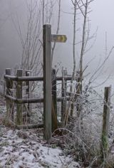 Frosty signpost