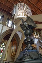 Lectern & Christ in Majesty,  Llandaff cathedral, Cardiff