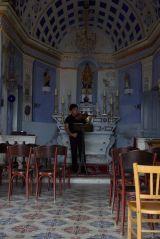 Practicing a solo, Kato Galatas, Crete
