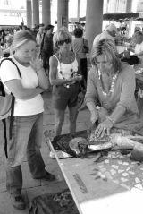 Fish stallholder, Calvi market