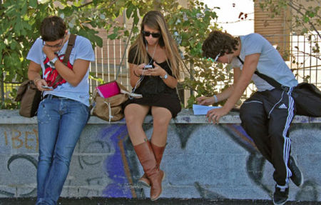 Students at Pisa Station.