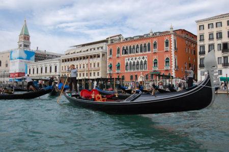 Gondola. Grand Canal, Venice