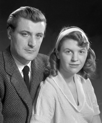 Ted Hughes and Sylvia Plath.