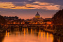 Sunset over the RIver Tiber