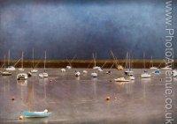 Granton Harbour at Low Tide