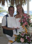 Natalie & Darren with register