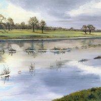 Attingham Park - River Tern in flood