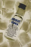 Absolut Vodka on ice