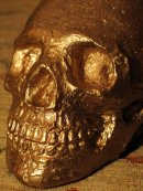 Human Replica skull, Gold mirror paint, Etsy, PJCreationCraft.