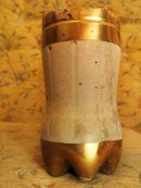 Hypertufa - Cke Gold paint detail.