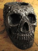 Human replica skull, candle holder, PJCreationCraft, Etsy.