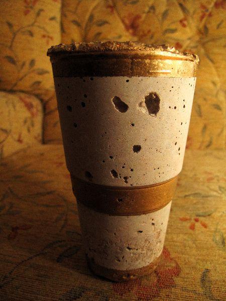 Pint Pot-- 392. Hypertufa plant pot.