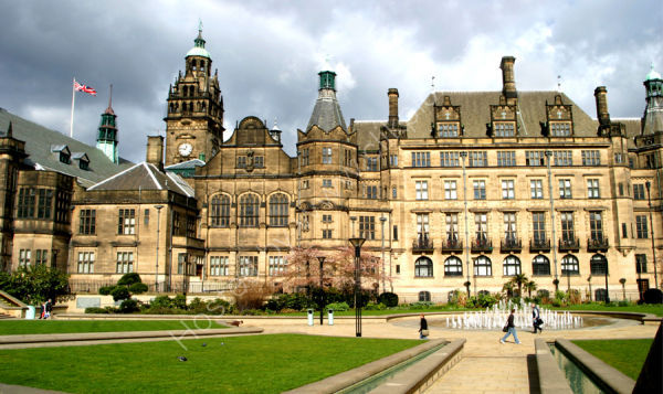 Sheffield Town Hall Facade