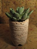 Hypertufa plant pot, PJCreationCraft, Etsy.