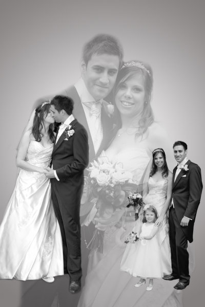 Wedding photography montage