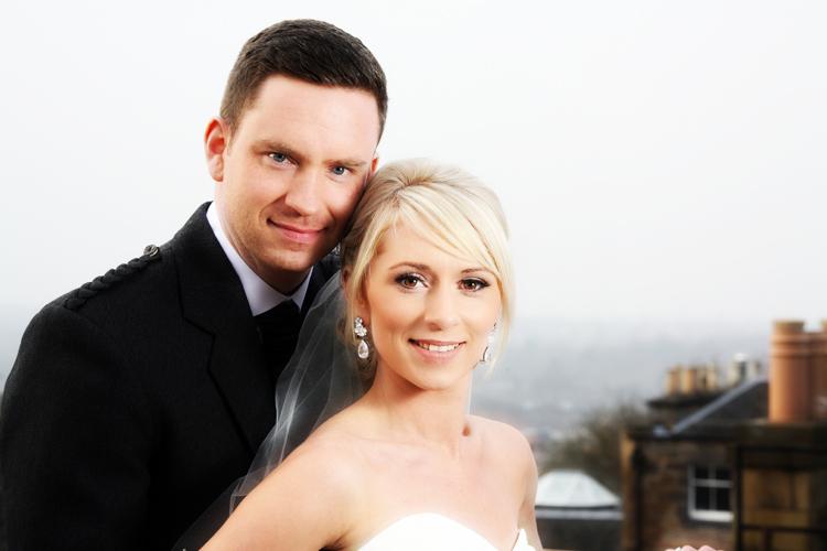 Jenni and Stuart, George Hotel rooftop