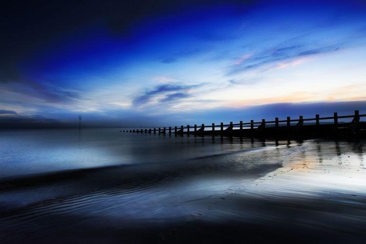 Pre-dawn Portobello beach