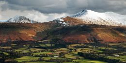 A snow capped Cribyn, Pen Y Fan & Corn Du in the Brecon Beacons. Limited Edition of 100.