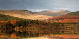 Reflection in Pentwyn Reservoir. Open Edition.