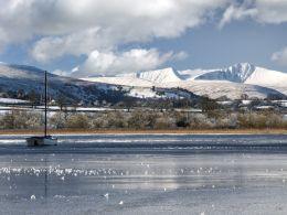 Llangorse Lake Frozen, Dec. 2010